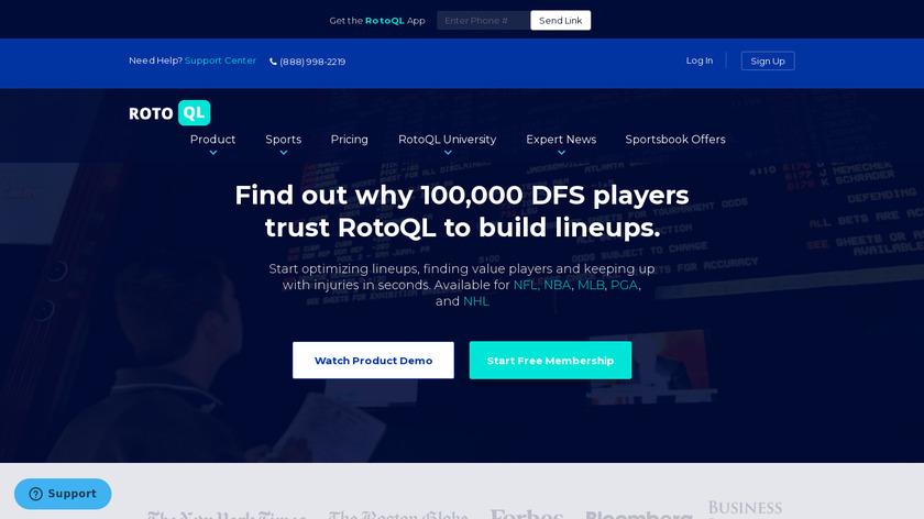 BetQL Landing Page