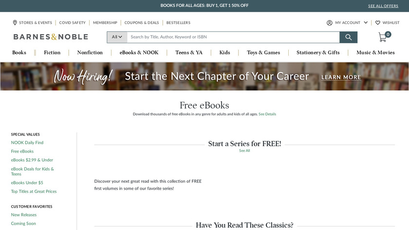Free Books & Audiobooks Landing Page