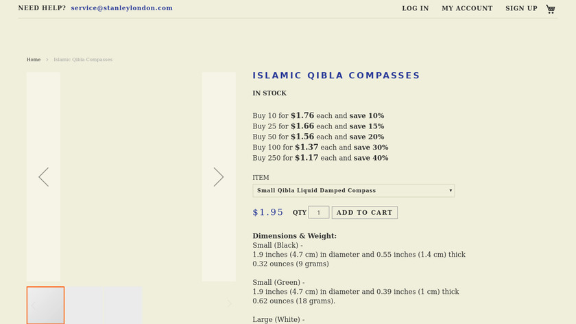 Qibla Compass Landing Page