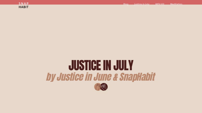 Justice in July Landing Page