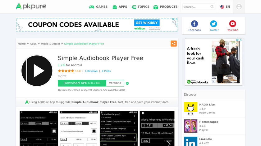 Simple Audiobook Player Free Landing Page