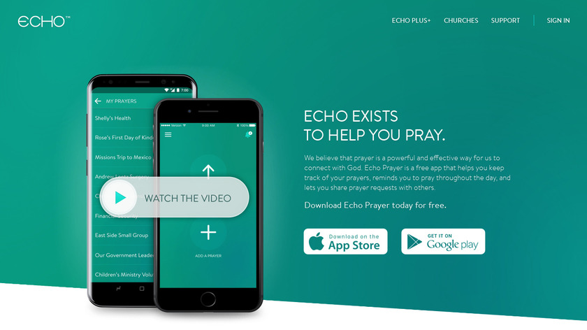 Echo Prayer Landing Page