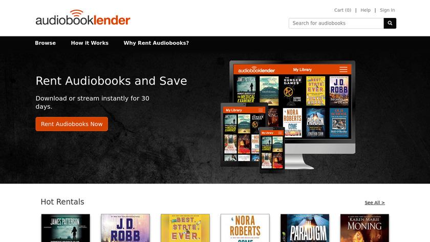 Audiobook Lender Audio Book Rentals Landing Page
