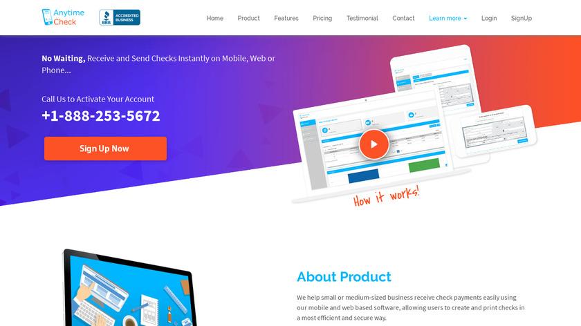 AnytimeCheck – eCheck Landing Page
