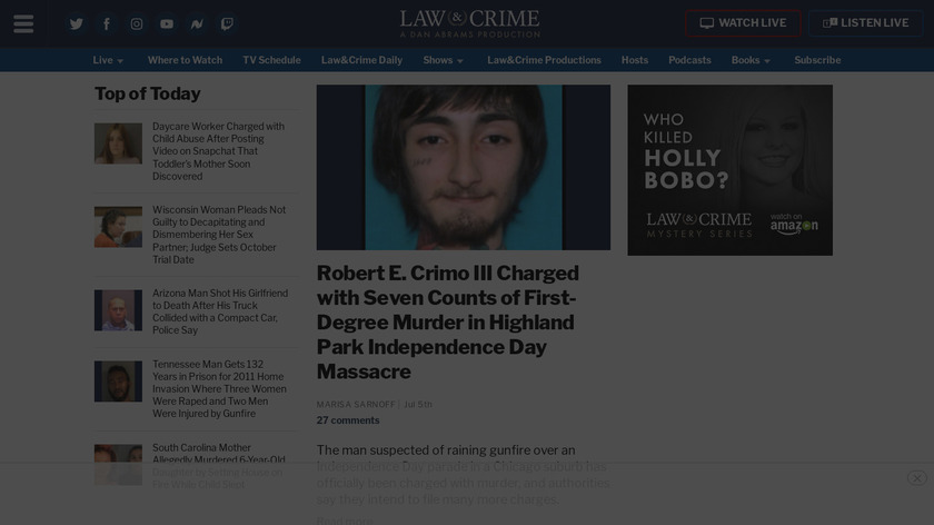 Law & Crime Trial Network Landing Page