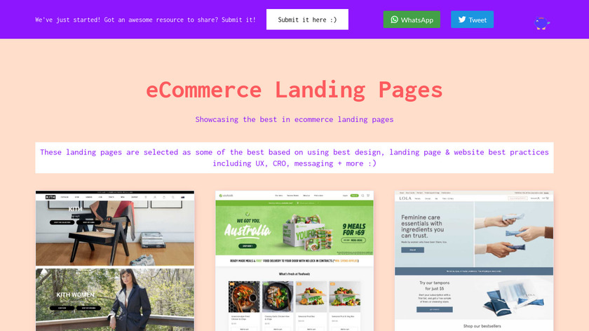 eCommerce Stack Inspiration Landing Page
