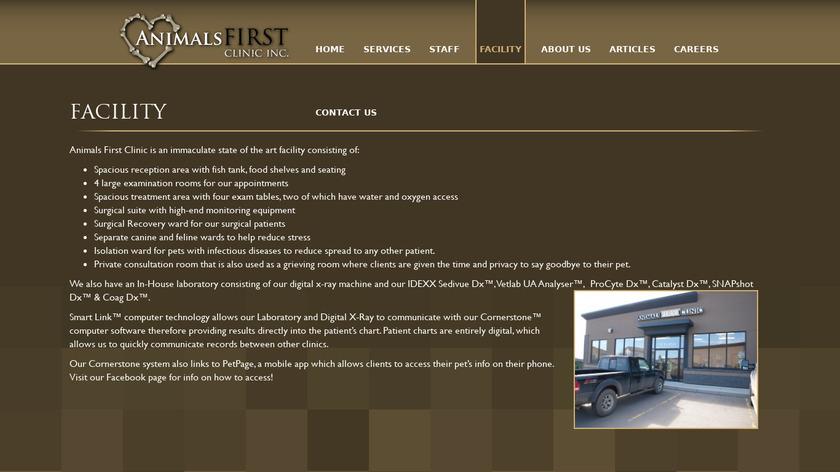 AnimalsFirst Landing Page