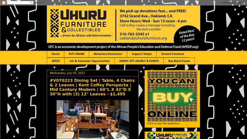 Uhuru Landing Page