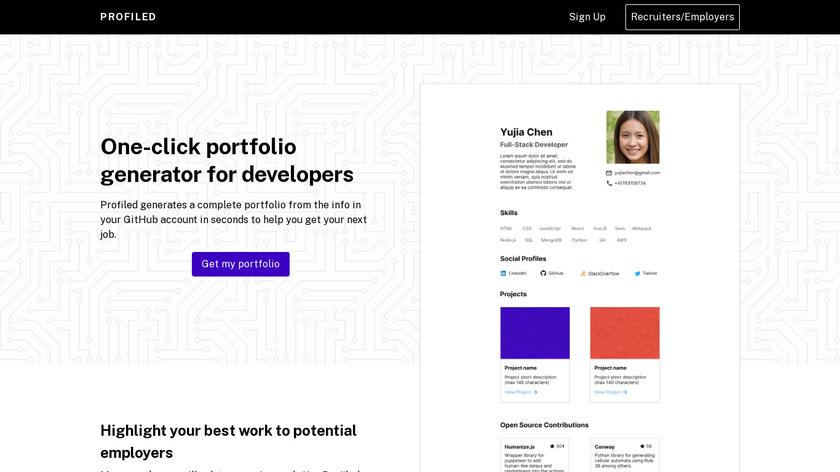 Profiled Landing Page