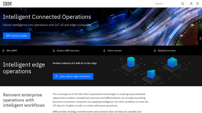 IBM IoT Consulting Services Landing Page