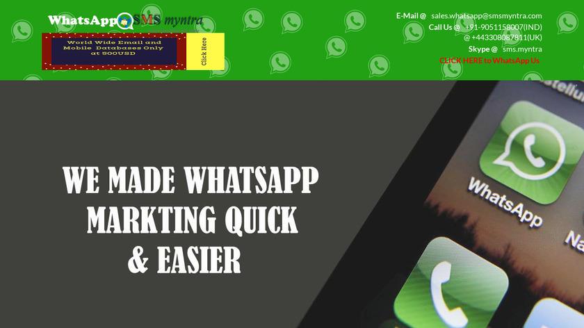 WhatsApp Myntra Landing Page