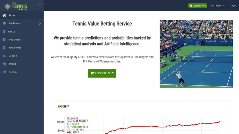 TopTennisTips Landing Page