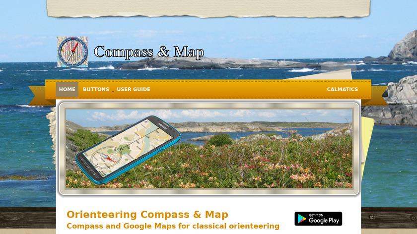 Orienteering Compass & Map Landing Page