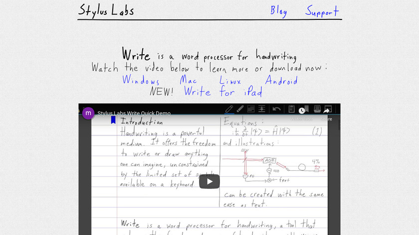 Stylus Labs Write Landing Page