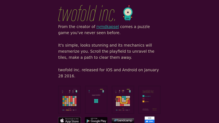 Twofold Inc. Landing Page