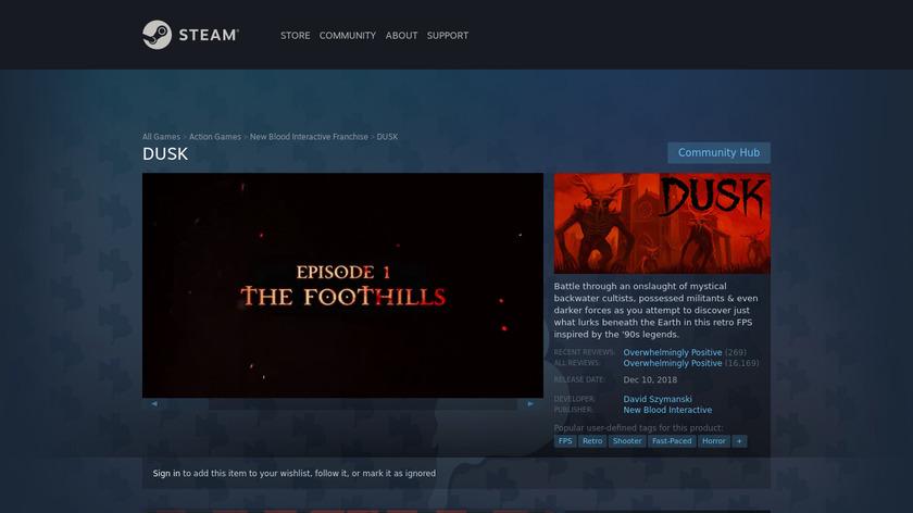 DUSK Landing Page