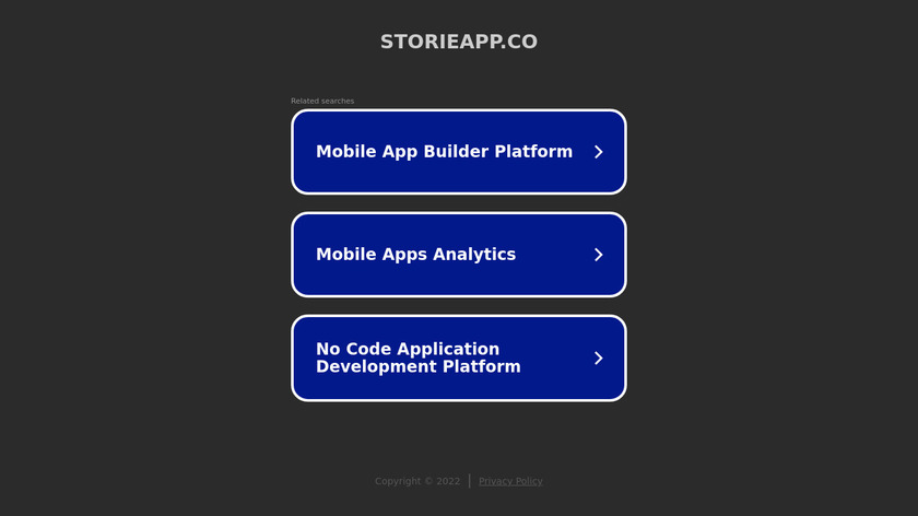 Storie Landing Page