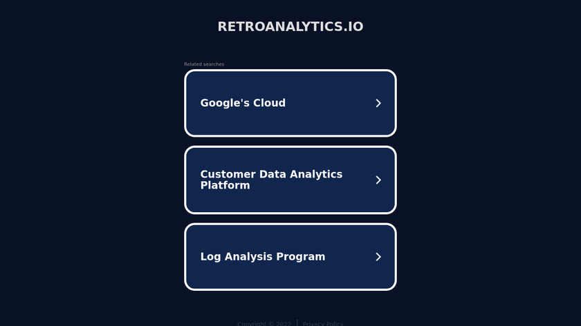Retro Analytics Landing Page