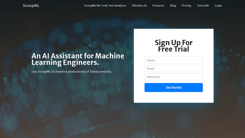 ScoopML Landing Page