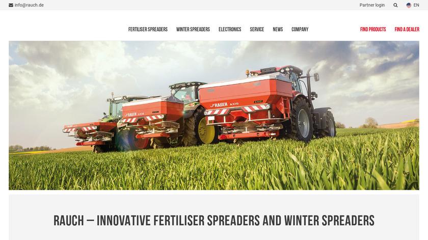 RAUCH Fertilizer Chart Landing Page