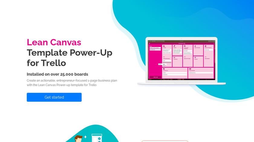 Lean Canvas Power-Up for Trello Landing Page