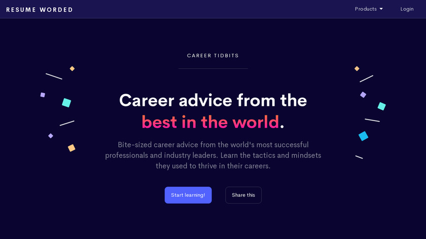 Career Tidbits Landing Page