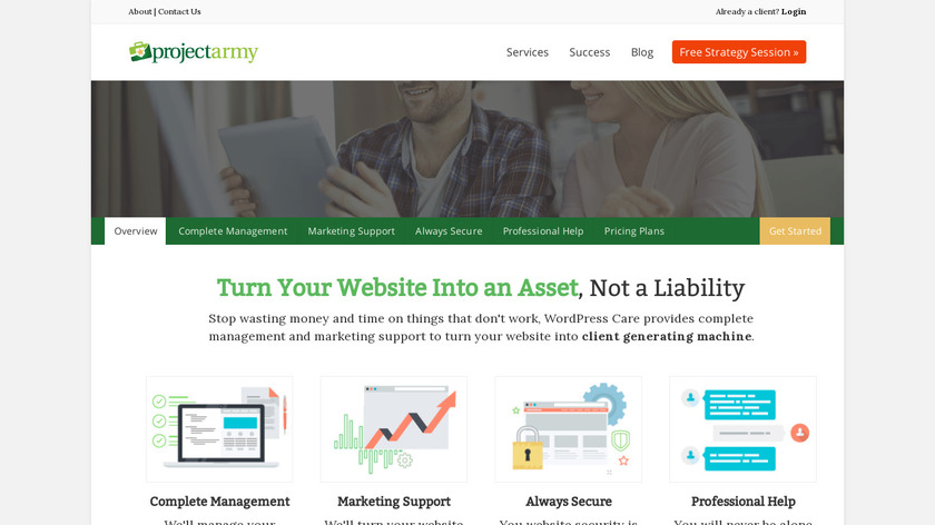 WordPress Care Landing Page