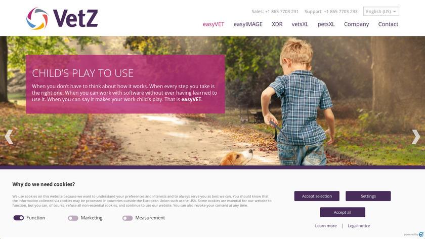 easyVET Landing Page