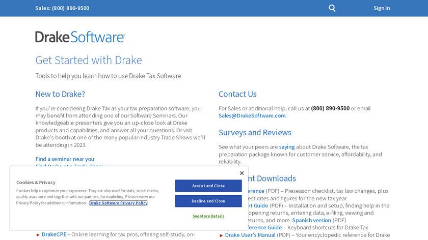 Drake Tax Landing Page