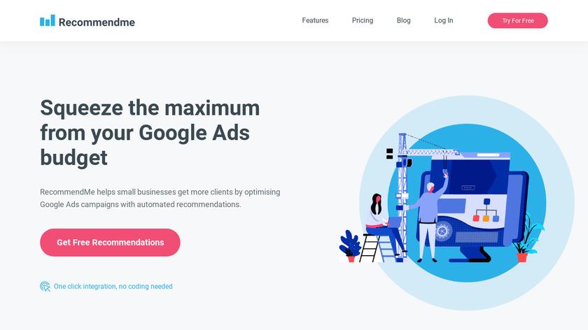 RecommendMe Landing Page