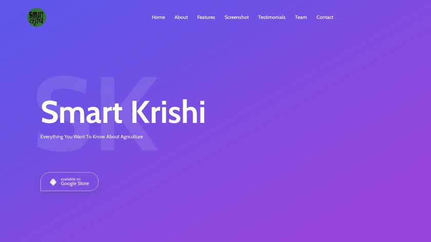 Smart Krishi Landing Page