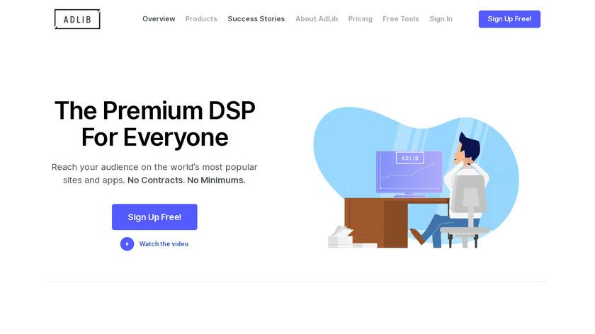 AdLib DSP Landing Page