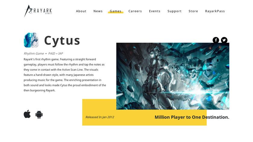 Cytus Landing Page