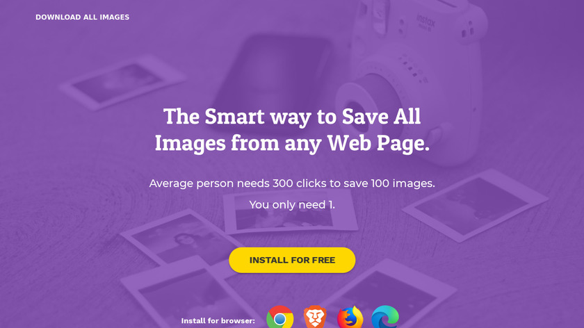Download All Images Landing Page