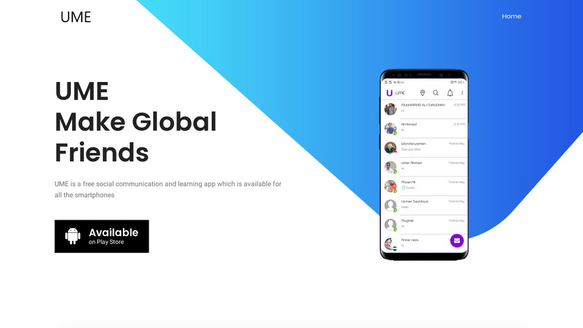 UME | Make friends Globally Landing Page