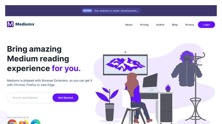 MediumX Landing Page