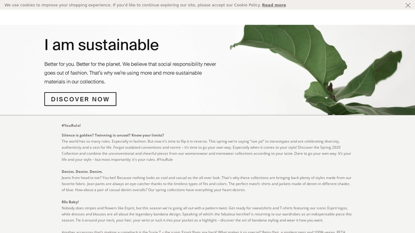 Esprit Landing Page