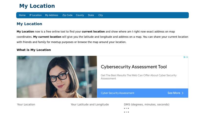 GPS Coordinates Landing Page