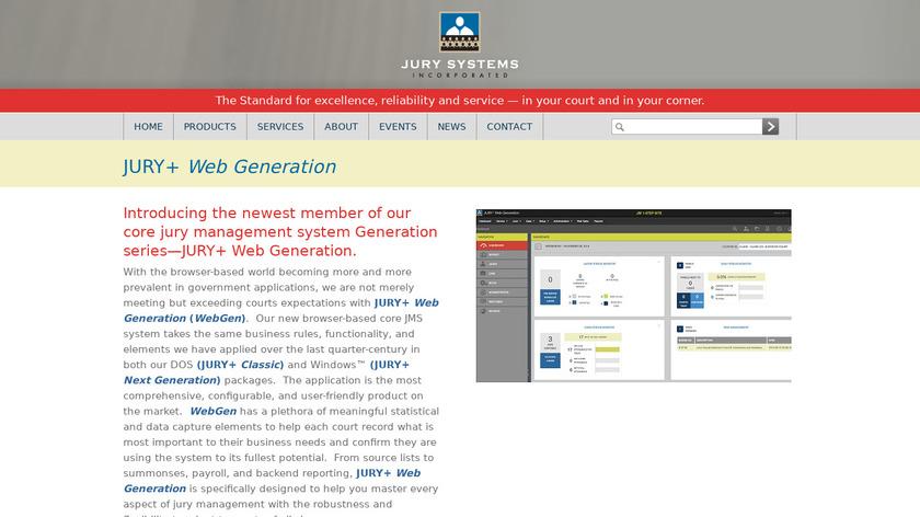 JURY+ Web Generation Landing Page
