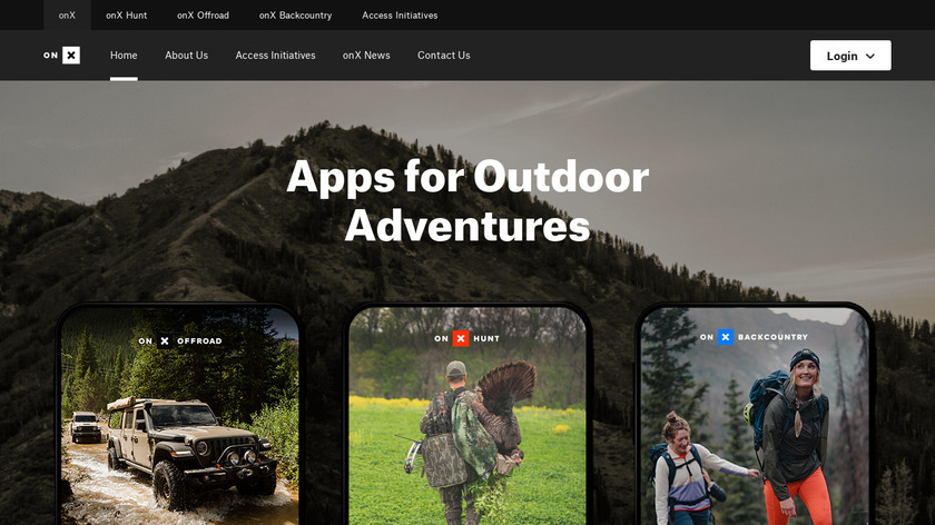 onX Hunt Hunting Maps Landing Page