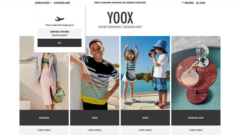 YOOX Landing Page