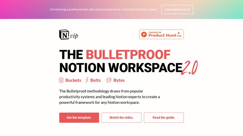The Bulletproof Notion Workspace Landing Page