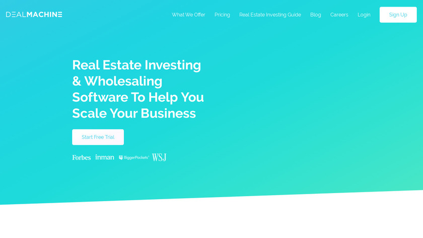 DealMachine for Real Estate Investing Landing Page