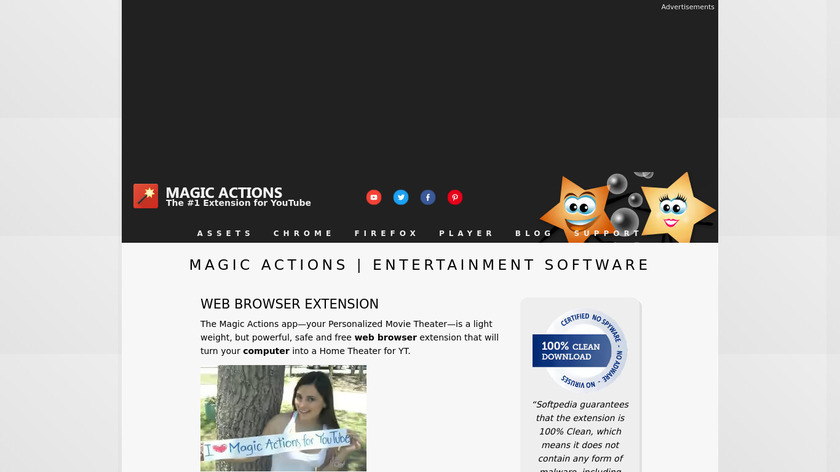 Magic Actions Landing Page