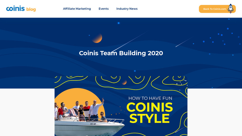 Coinis Landing Page