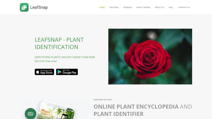 LeafSnap Landing Page