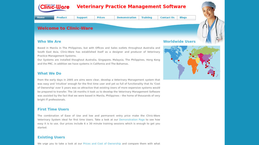 Clinic-Ware Landing Page