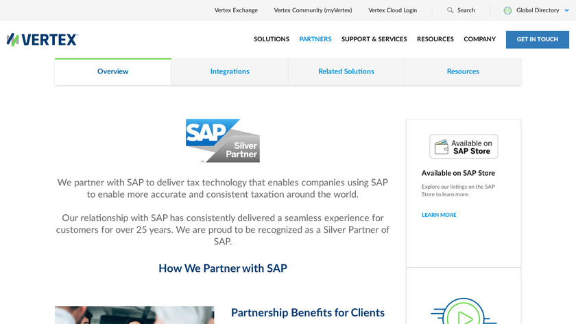 SAP Tax & Revenue Management Landing Page