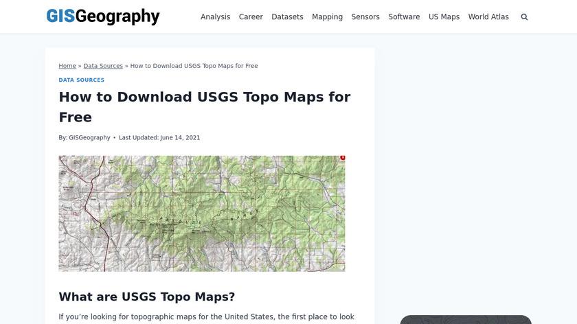 US Topo Maps Free Landing Page