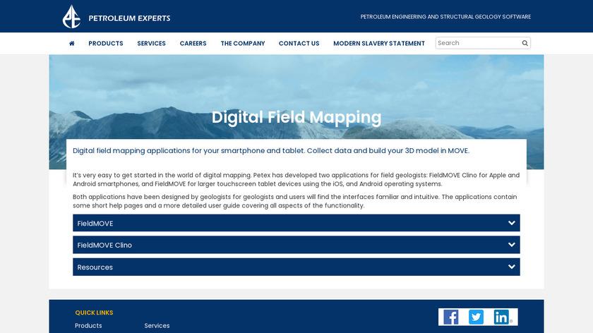 FieldMove Clino Landing Page
